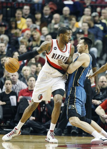 LaMarcus has continued his steady play, helping Portland to 62 points in the paint Tuesday night. Photo courtesy of the AP.