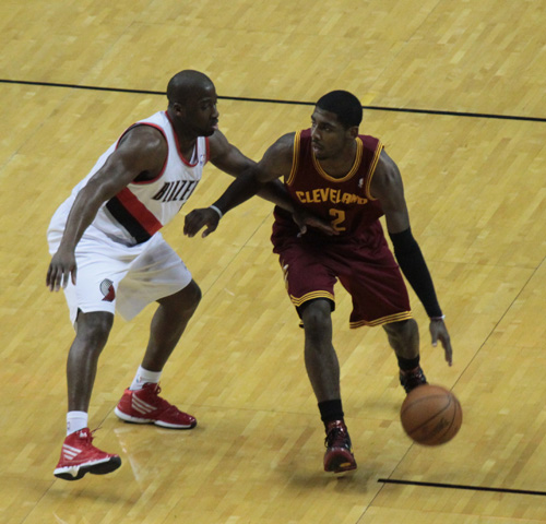 Raymond Felton had the duty of defending Kyrie Irving, the lone highlight for the Cavs on Sunday.