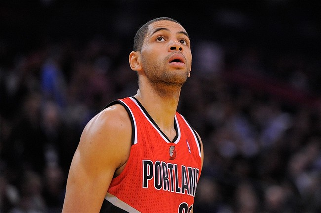 January 11, 2013; Oakland, CA, USA; Portland Trail Blazers small forward Nicolas Batum (88) looks on during the second quarter against the Golden State Warriors at Oracle Arena. The Warriors defeated the Trail Blazers 103-97. Mandatory Credit: Kyle Terada-USA TODAY Sports
