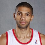 Sep 30, 2013; Portland, OR, USA; Portland Trail Blazers forward Nicolas Batum (88) poses for a photo during media day at the Moda Center. Mandatory Credit: Joe Nicholson-USA TODAY Sports