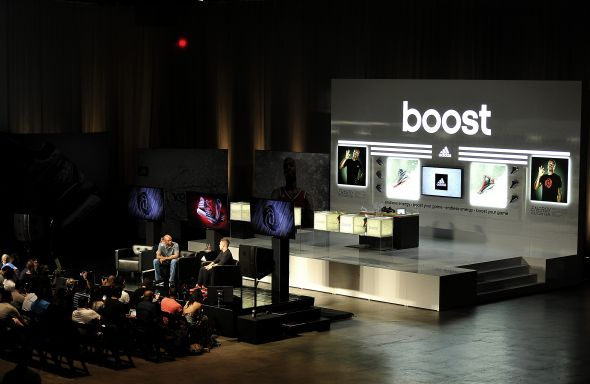 Las Vegas, Nevada (July 27, 2014) – adidas Basketball unveils Boost in the new D Rose 5 Boost and Crazy Light Boost at a launch event at the MGM Grand Garden Arena.