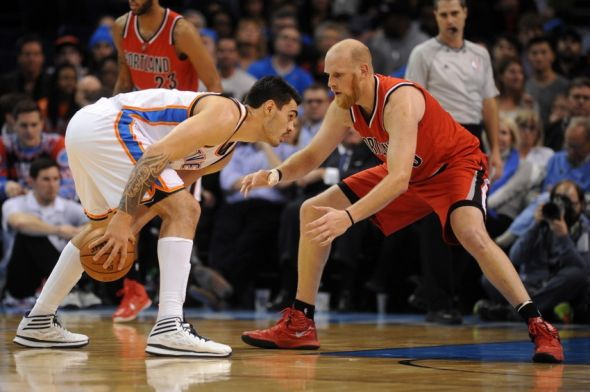 Chris-kaman-steven-adams-nba-portland-trail-blazers-oklahoma-city-thunder-590x900