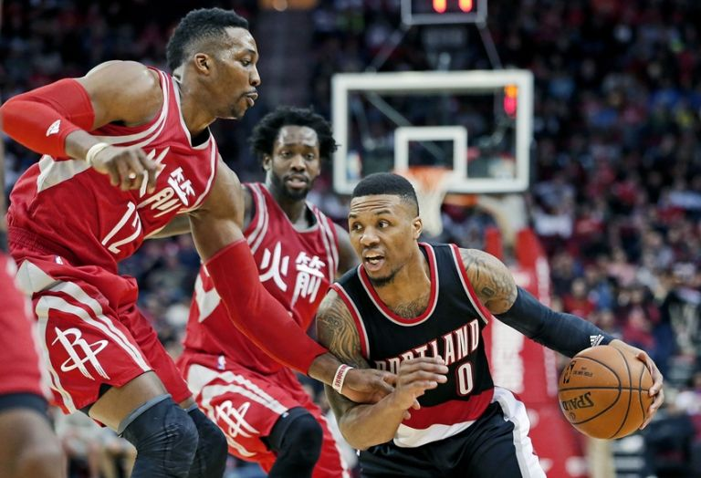 Damian-lillard-dwight-howard-nba-portland-trail-blazers-houston-rockets-768x0