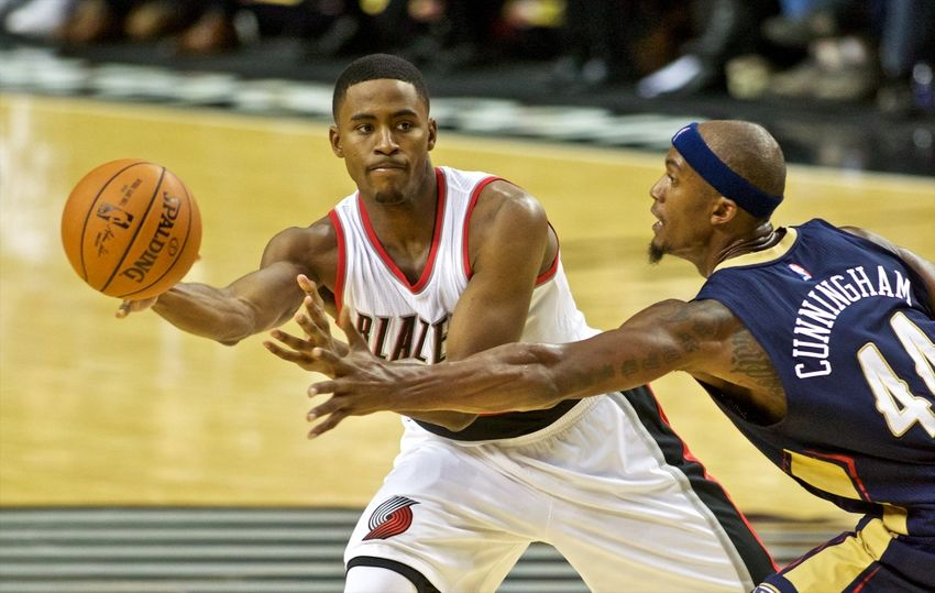 maurice harkless returns to the bench rip city project. Black Bedroom Furniture Sets. Home Design Ideas