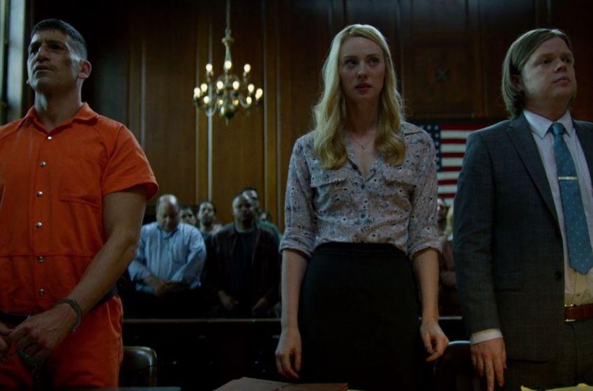 "Jon Bernthal, Deborah Ann Woll and Elden Henson as Frank Castle ""The Punisher,"" Karen Page, and Foggy Nelson in Daredevil."