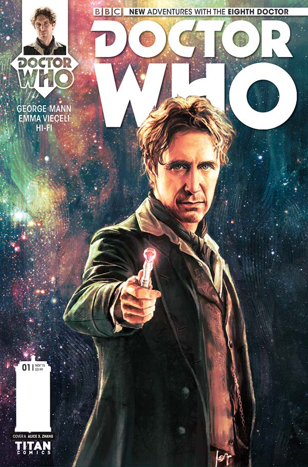 Cover to Doctor Who: The Eighth Doctor #1 by artist Alice X. Zhang (Credit: Titan Comics)
