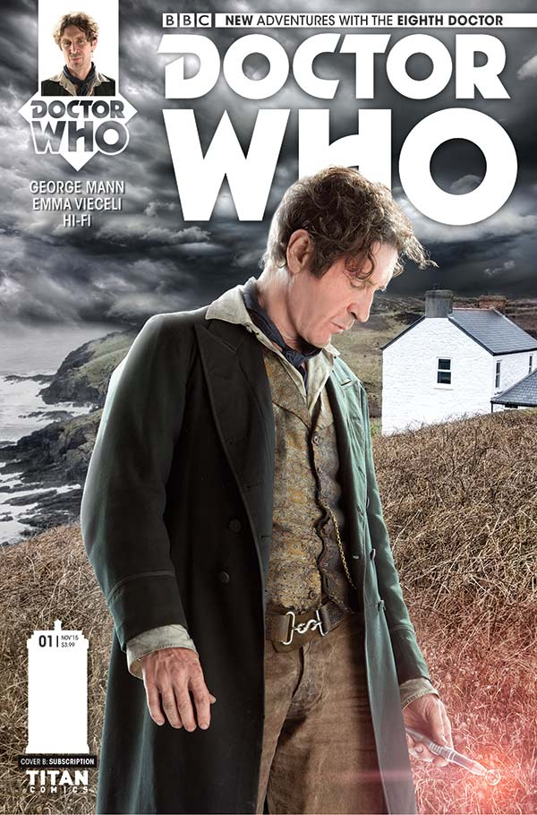 Photo Cover to Doctor Who: The Eighth Doctor #1, coming this October (Credit: Titan Comics)