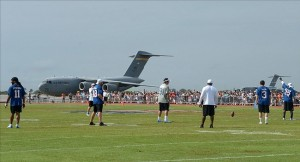 Pro Bowl practice at Pearl Harbor