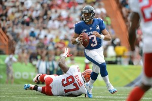 Russell Wilson threw for 3 TD's in the NFC's 62-35 victory.