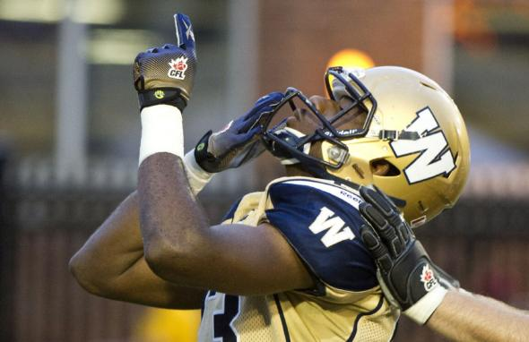 Matthews celebrating a touchdown, courtesy of thestar.com