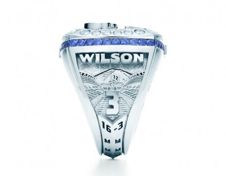 Russell Wilson's ring, courtesy of the Seattle P-I