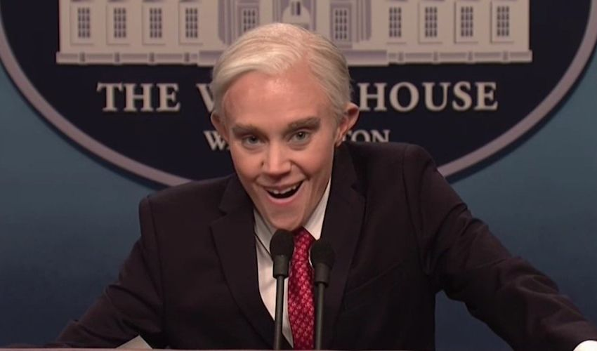Kate McKinnon appears as Jeff Sessions in SNL Cold Open