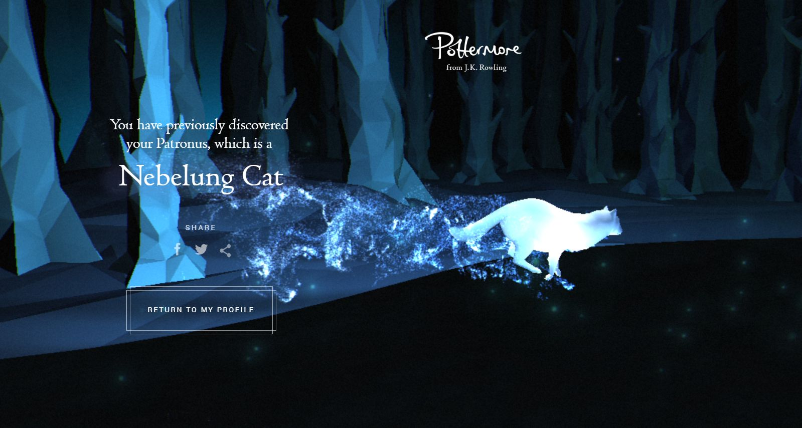 how to get an otter as a patronus on pottermore