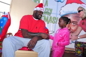 Cleveland's big man will play Shaq-a-Clause to Cavalier fans on Friday night.