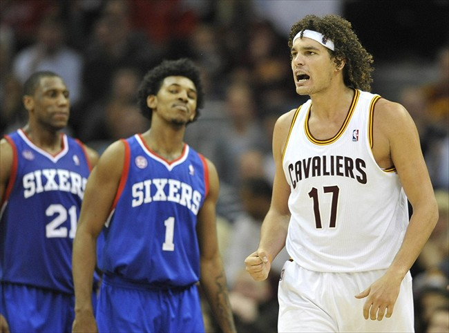 Nov 21, 2012; Cleveland, OH, USA; Cleveland Cavaliers center Anderson Varejao has been cleared for all basketball-related activities. Mandatory Credit: David Richard-USA TODAY Sports