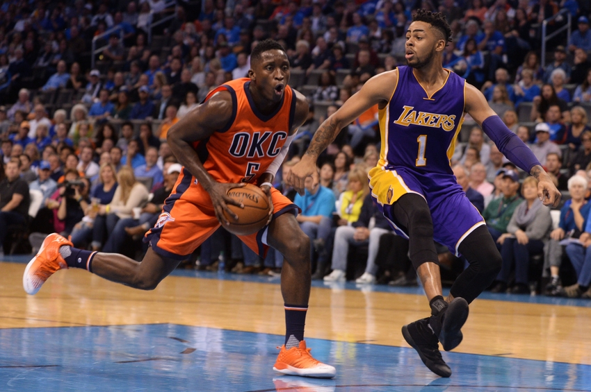 Victor Oladipo, Oklahoma City Thunder, D'Angelo Russell, Los Angeles Lakers