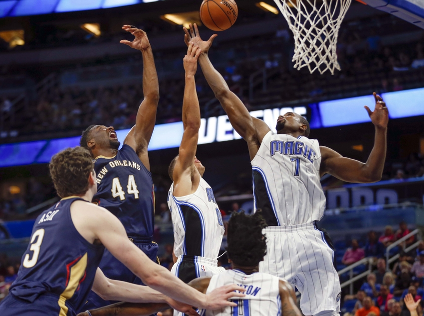 Aaron Gordon, Serge Ibaka, Orlando Magic, Solomon Hill, New Orleans Pelicans