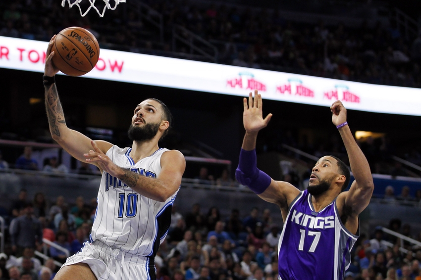 Evan Fournier, Orlando Magic, Garrett Temple, Sacramento Kings