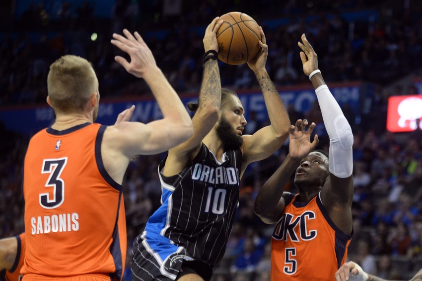 Evan Fournier, Orlando Magic, Domantas Sabonis, Victor Oladipo, Oklahoma City Thunder