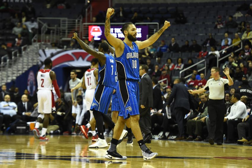 Evan Fournier, Bismack Biyombo, Orlando Magic, Washington Wizards