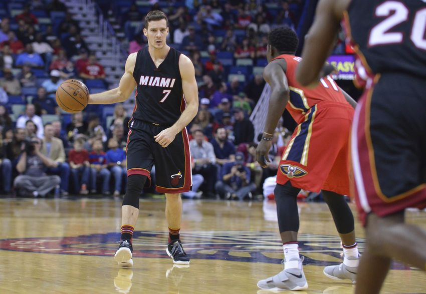 Dec 23, 2016; New Orleans, LA, USA;  Miami Heat guard Goran Dragic (7) handles the ball during the first quarter of the game against the New Orleans Pelicans at the  Smoothie King Center. Mandatory Credit: Matt Bush-USA TODAY Sports