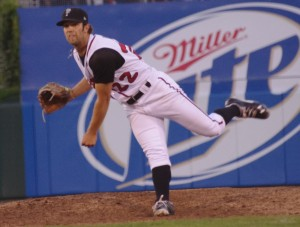 Daniel Norris pitches for the Lansing Lugnuts in Lansing, Michigan on August 9, 2013. Mandatory Credit: Jay Blue