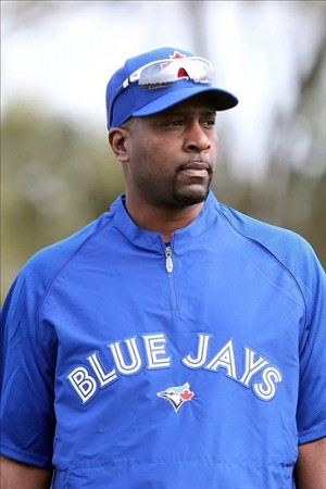 February 14, 2013; Tampa, FL, USA; Toronto Blue Jays relief pitcher Darren  Oliver (38) works out during spring training at <strong/><p class=