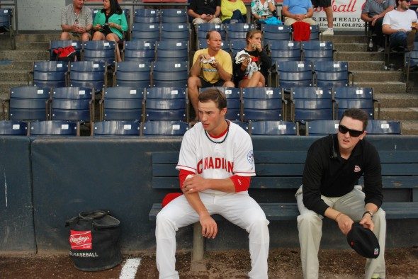 Dawson focuses pre-game (image courtesy of Charlie Caskey)