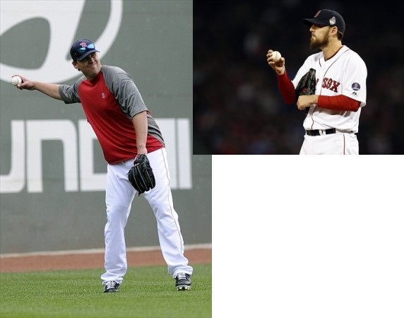 (Left) June 22, 2012; Fat Lackey - Mandatory Credit: Bob DeChiara-USA TODAY Sports (Right) Oct 30, 2013; Thin Lackey - Mandatory Credit: Greg M. Cooper-USA TODAY Sports