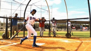 Urena finishes a swing (image courtesy of dplbaseball)