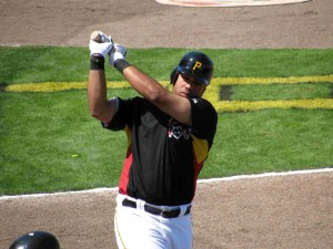 The million dollar swing of Pedro Alvarez made the fans smile in Lynchburg last night.   Photo Rumbunter