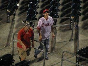 Heh, can you tell Brad Lidge we love him? Thank you!