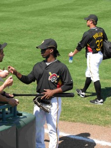 McCutchen in Spring Training