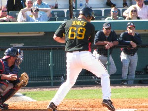 Garrett Jones in spring training 2009. Photo. RumBunter