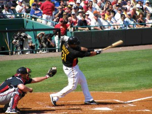 Jose Tabata in 2009 Spring Training.