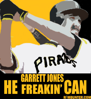 Garrett Freakin' Jones delivered the walk off for the second night in a row. Pirates drop Reds 5-4