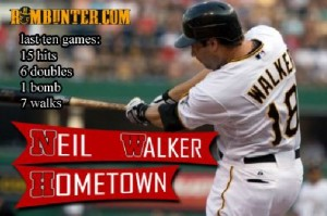 Since the end of May, Pirates 2B Neil Walker is hitting over .300