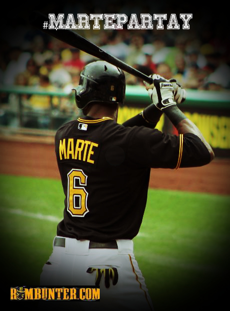 Starling Marte hit .257 with 5 bombs in 167 at-bats in 2012