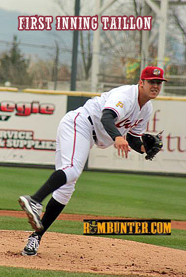 Jameson Taillon fires a fastball earlier this year for the Altoona Curve