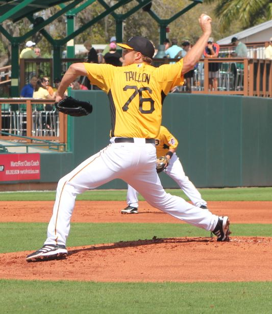 Jameson Taillon firing strikes in Spring Training. PHOTO Rumbunter.com
