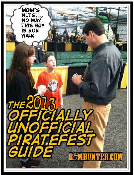 Bob Nutting signs for confused fans at PirateFest