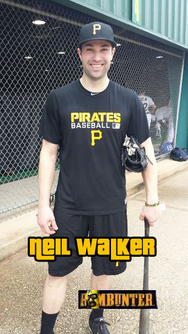 Neil Walker headed to the cages at Pirates City in Bradenton