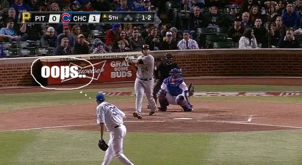 Pedro Alvarez crushes his third home run of the year off Jason Hammel