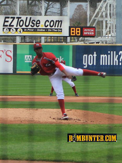 Joely Rodriguez was the starter for the Altoona Curve today.