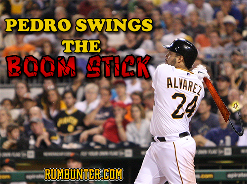 Pedro swings the boom stick.