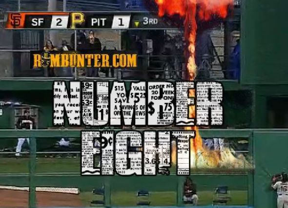 Pedro Alvarez crushed his eighth homer for the Pittsburgh Pirates.