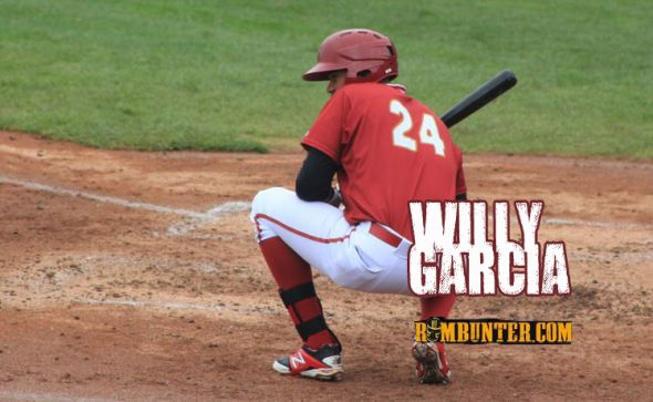 Willy Garcia has battled with strikeouts this year.