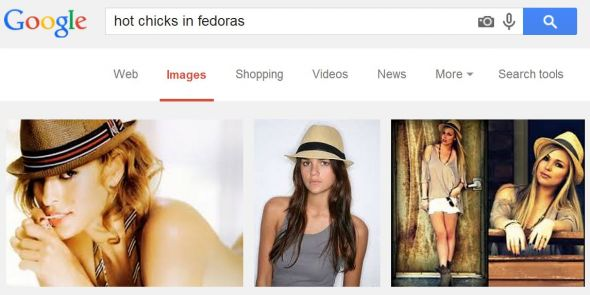 Hot chicks in fedoras