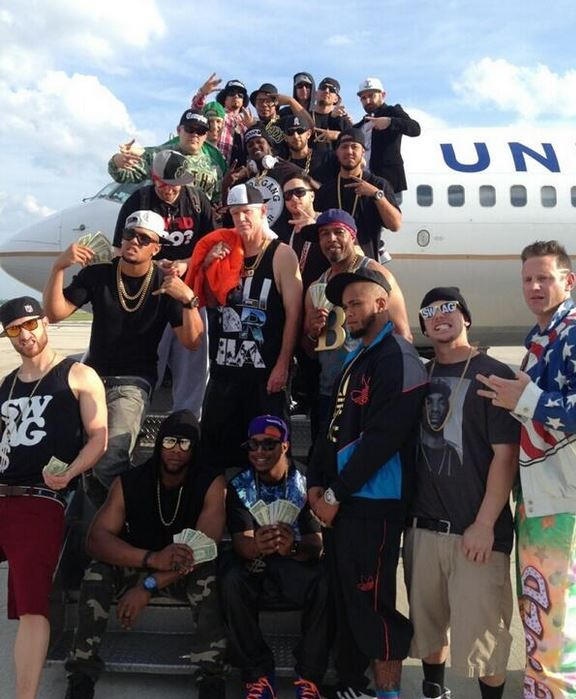 The Brewers dressed as rappers and wranglers for a road trip.