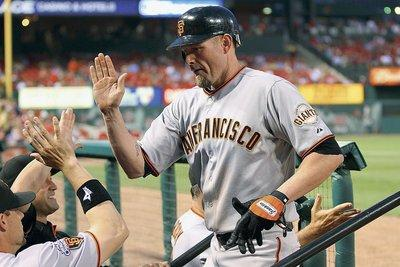 Aubrey Huff of the San Francisco Giants